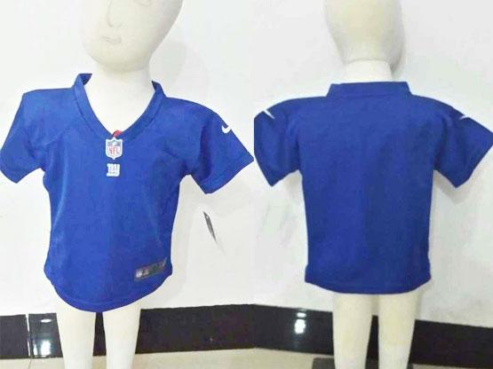 Kids Nfl New York Giants (blank) Blue Jersey