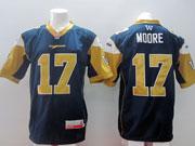 Mens Cfl Winnipeg Blue Bombers #17 Moore Blue Jersey