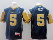 Mens Cfl Winnipeg Blue Bombers #5 Willy Blue Jersey