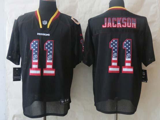 Mens Nfl Washington Redskins #11 Jackson Black (2014 Usa Flag Fashion) Elite Jersey