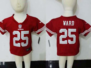 Kids Nfl San Francisco 49ers #25 Ward Red Jersey
