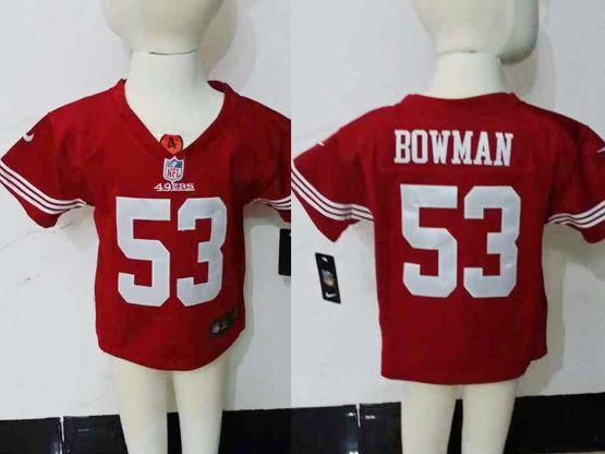 kids nfl San Francisco 49ers #53 NaVorro Bowman red jersey