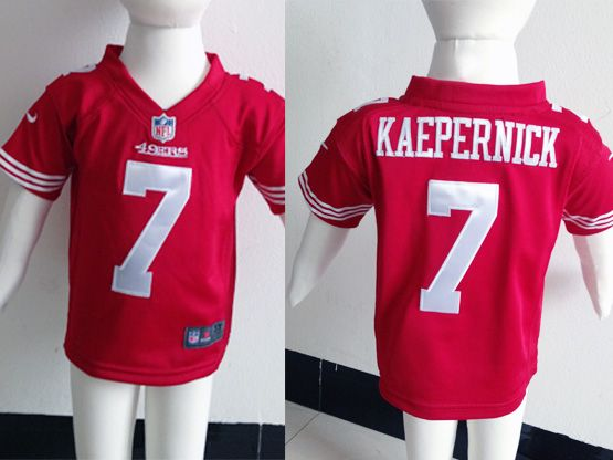 kids nfl San Francisco 49ers #7 Colin Kaepernick red jersey
