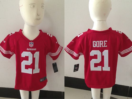 Kids Nfl San Francisco 49ers #21 Gore Red Jersey