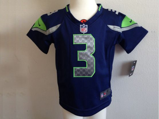 Kids Nfl Seattle Seahawks #3 Wilson Blue Jersey