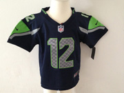 Kids Nfl Seattle Seahawks #12 Fan Blue Jersey