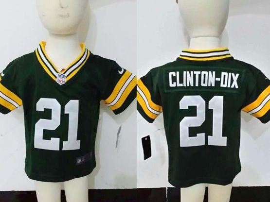 Kids Nfl Green Bay Packers #21 Clinton-oix Green Jersey