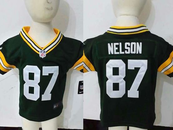 Kids Nfl Green Bay Packers #87 Nelson Green Jersey
