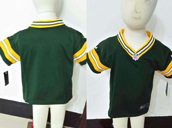 Kids Nfl Green Bay Packers Blank Green Jersey