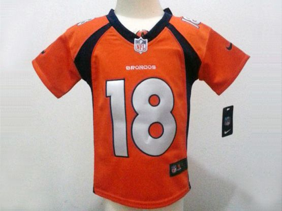 Kids Nfl Denver Broncos #18 Manning Orange Jersey