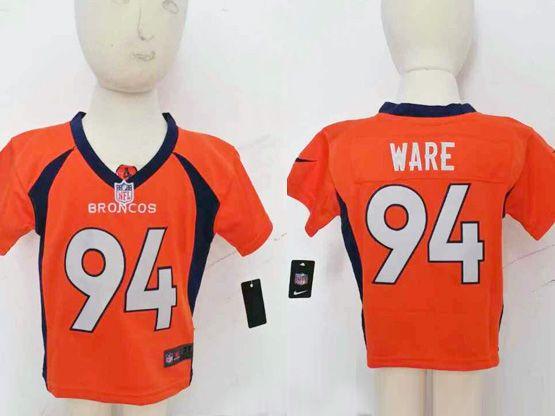 Kids Nfl Denver Broncos #94 Ware Orange Jersey
