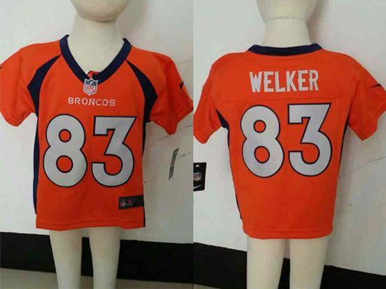 Kids Nfl Denver Broncos #83 Welker Orange Jersey