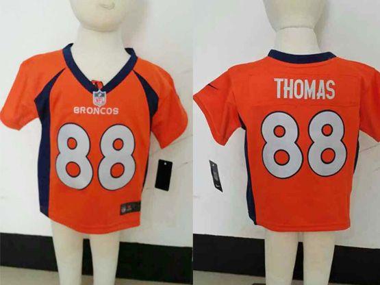Kids Nfl Denver Broncos #88 Thomas Orange Jersey