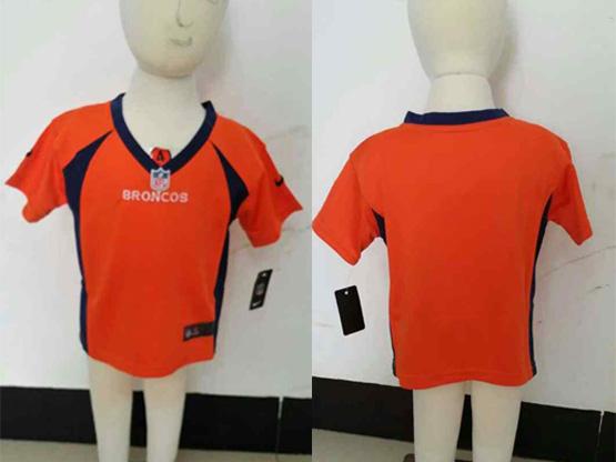 Kids Nfl Denver Broncos Blank Orange Jersey