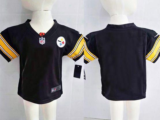 Kids Nfl Pittsburgh Steelers Blank Black Jersey