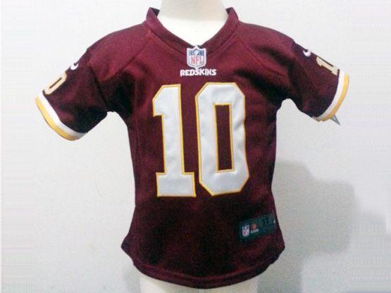 Kids Nfl Washington Redskins #10 Griffin Iii Red Jersey