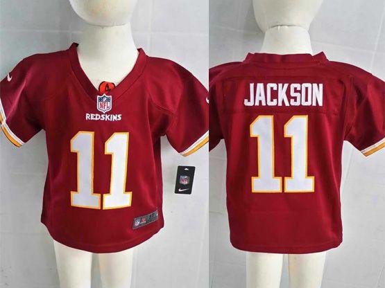 Kids Nfl Washington Redskins #11 Jackson Red Jersey