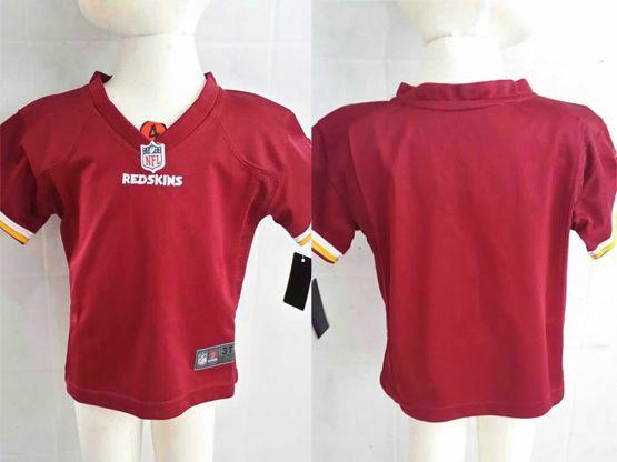 Kids Nfl Washington Redskins Blank Red Jersey