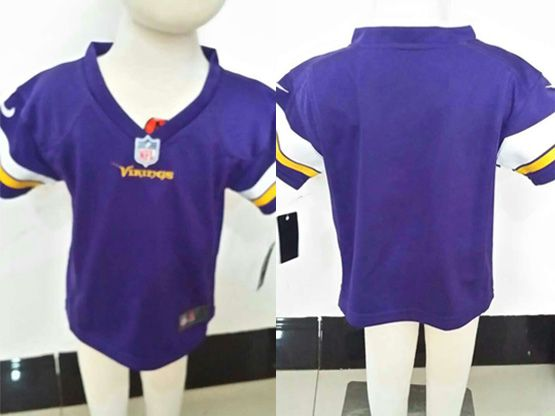 Kids Nfl Minnesota Vikings Blank Purple Jersey