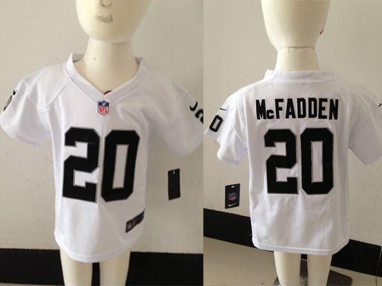 Kids Nfl Oakland Raiders #20 Mcfadden White Jersey