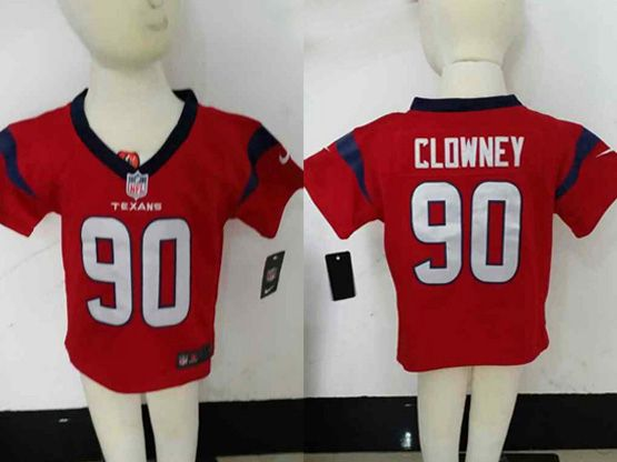 Kids Nfl Houston Texans #90 Clowney Red Jersey