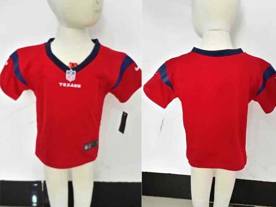 Kids Nfl Houston Texans Blank Red Jersey