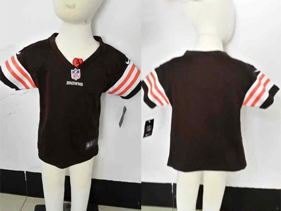 Kids Nfl Cleveland Browns Blank Brown Jersey