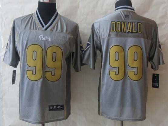 Mens Nfl St. Louis Rams #99 Donald Black (2014 New Vapor) Elite Jerseys