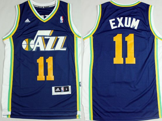 Mens Nba Utah Jazz #11 Exum Purple Revolution 30 Jersey (p)