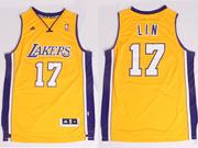 Mens Nba Los Angeles Lakers #17 Lin Gold Revolution 30 Jersey (p)