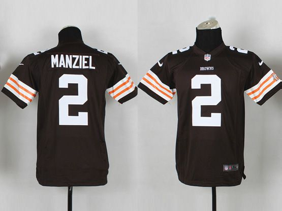 Youth Nfl Cleveland Browns #2 Manziel Brown Game Jersey