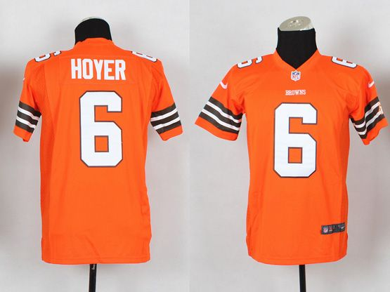 Youth Nfl Cleveland Browns #6 Hoyer Orange Game Jersey