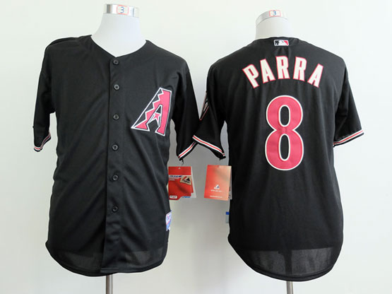 Mens mlb arizona diamondbacks #8 parra black Jersey