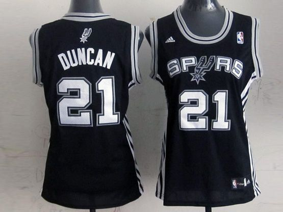 Women  Nba San Antonio Spurs #21 Duncan Black Jersey