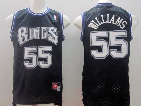 Mens Nba Sacramento Kings #55 Williams Black Nk Jersey (m)