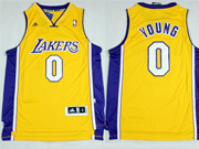 Mens Nba Los Angeles Lakers #0 Young Gold Revolution 30 Jersey (p)