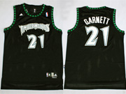 Mens Nba Minnesota Timberwolves #21 Garnett Black New Jersey (m)