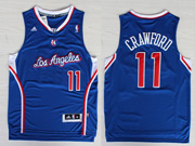 Mens Nba Los Angeles Clippers #11 Crawford Blue Revolution 30 Jersesy (p)
