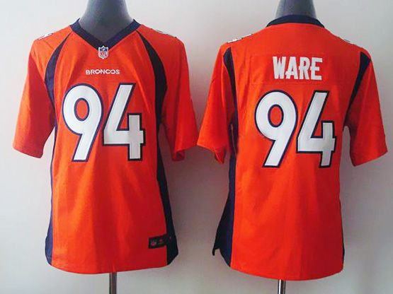 Youth Nfl Denver Broncos #94 Ware Orange (2014 New) Game Jersey