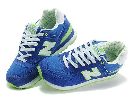 Women  New Balance 574 Running Shoes Color Dark Blue&white