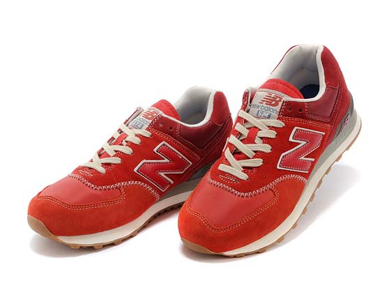 Women  New Balance 574 Running Shoes Color Red&pin