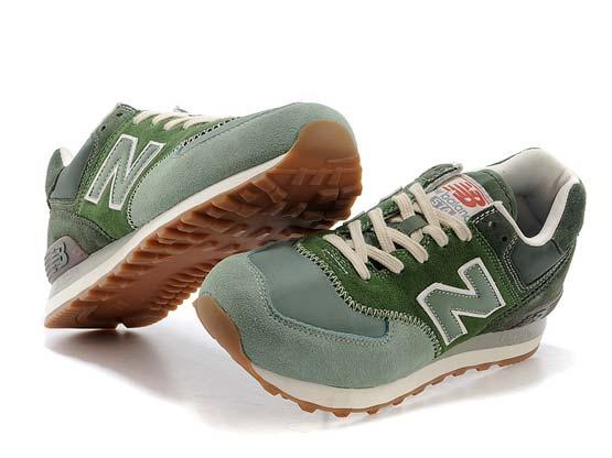 Women  New Balance 574 Running Shoes Color Green&light Green