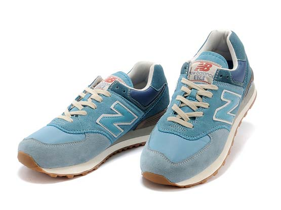 Women  New Balance 574 Running Shoes Color Blue&light Blue