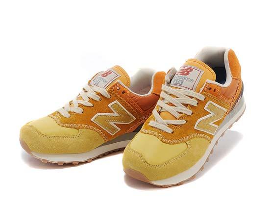 Women  New Balance 574 Running Shoes Color Yellow&light Yellow