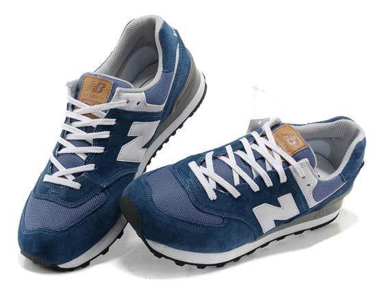 Women  New Balance 574 Running Shoes Color Dark Blue&light Blue&white