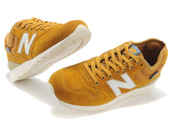 Women  New Balance 996 Running Shoes Color Yellow&white