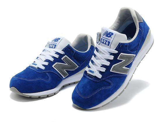 Women  New Balance 996 Running Shoes Color Blue&white&gray