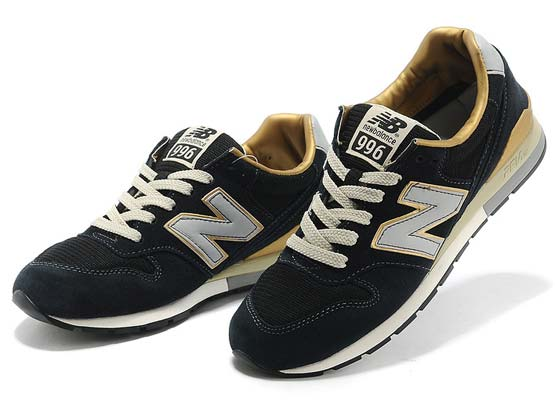 Women  New Balance 996 Running Shoes Color Black&white&yellow