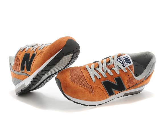 Women  New Balance 996 Running Shoes Color 0range&black&gray