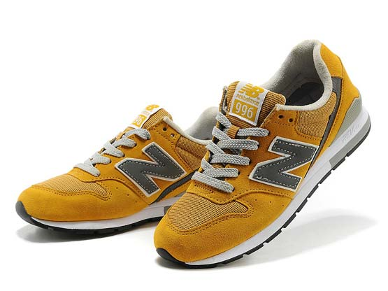 Women  New Balance 996 Running Shoes Color Yellow&gray
